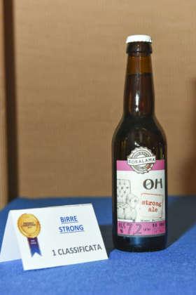 Oh Strong Ale della Brasseria Soralamà, prima classificata Premio Cerevisia Birre Strong.
