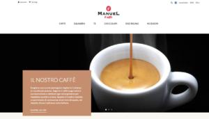 Home page e-shop Manuel Caffè