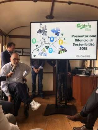 Presentazione del Bilancio di Sostenibilità 2018 Carlsberg Italia sul treno storico Milano-Varese