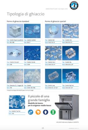 Alcune tipologie e formati di cubetti di ghiaccio Hoshizaki