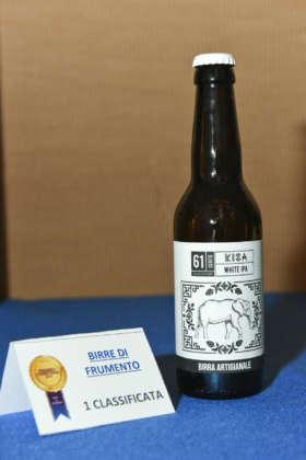 Birra Kisa White Ipa di Birrificio 61cento, prima classificata della cat. Birre di Frumento al Premio Cerevisia