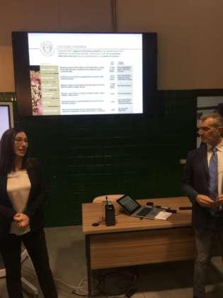 Agata Zani, innovation brewmaster Heineken Italia con Massimo Furlan, direttore Università della Birra
