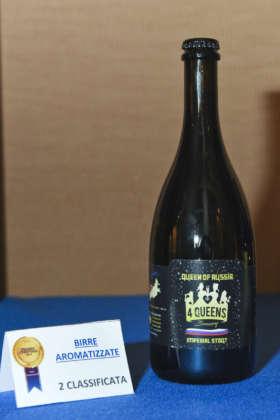 Birra Queen of Russia di 4 Queens Brewery, seconda classificata Premio Cerevisia Birre Aromatizzate