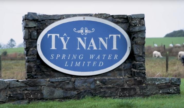 Ingresso all'azienda Ty Nant Spring Water Ltd