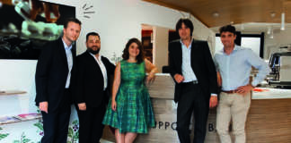 Il team della filiale di Roma del Gruppo Cimbali