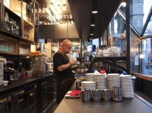 Fabio Verona al nuovo banco bar