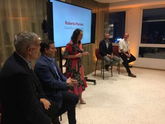Beppe Musso, Ivano Tonutti, Roberta Mariani, Nicola Piazza e Manuel Greco durante la presentazione