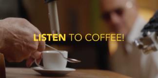 Un frame del filmato An Anthem for International Coffee Day