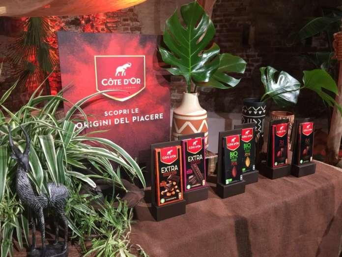 Nuova gamma di tavolette di cioccolato Côte d'Or presentata alla Fonderia Napoleonica Eugenia di Milano