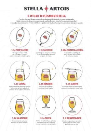 Il rituale di spillatura alla belga di Stella Artois