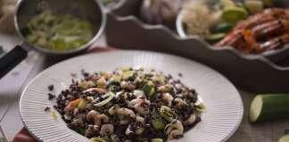 Gourmet Italia_riso venere e gamberi