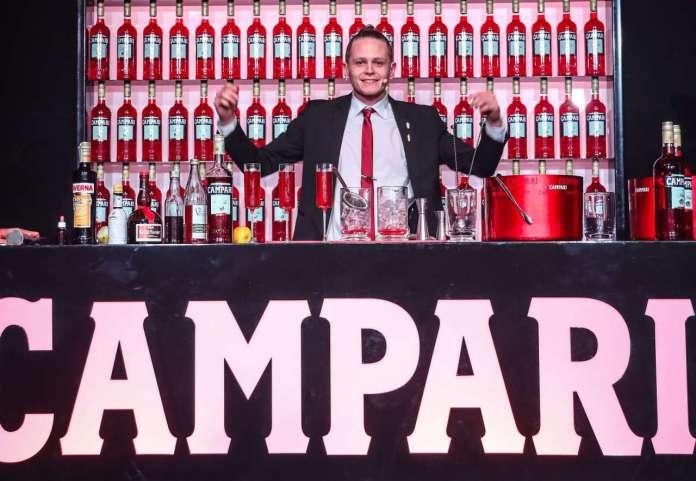 Corey Squarzoni Campari Barman Competition