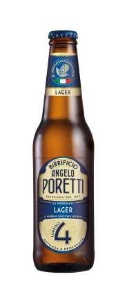 Birra Lager Angelo Poretti 4 Luppoli by Carlsberg Italia bott 33 cl