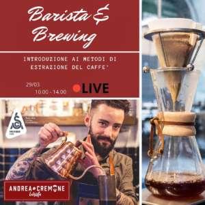 Locandina corso Barista & Brewing