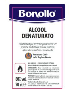 Bonollo etichetta alcol