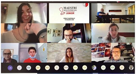 La schermata di un momento della finale di Maestri dell'Espresso Junior