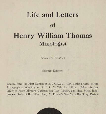Life and Letters of Henry William Thomas Copertina
