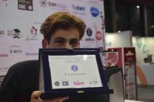 Il campione italiano Baristi 2020 Daniele Ricci