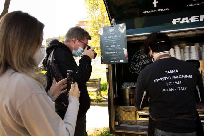 Un momento della prima tappa romana del Faema Coffee Tour