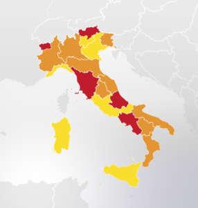 mappa regioni Dpcm 3 novembre aggiornata al 29 novembre