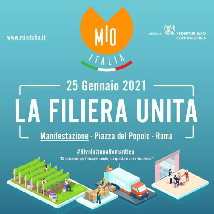 Mio Italia manifestazione ospitalità 25 gennaio