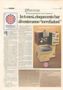 La tostatrice Tostacaffè K1 su La Gazzetta dell'Economia
