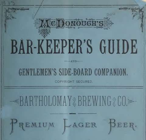 McDonough's Barkeepers' Guide