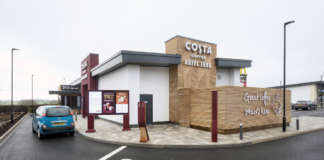 Drive thru Costa Coffee Edwalton Street