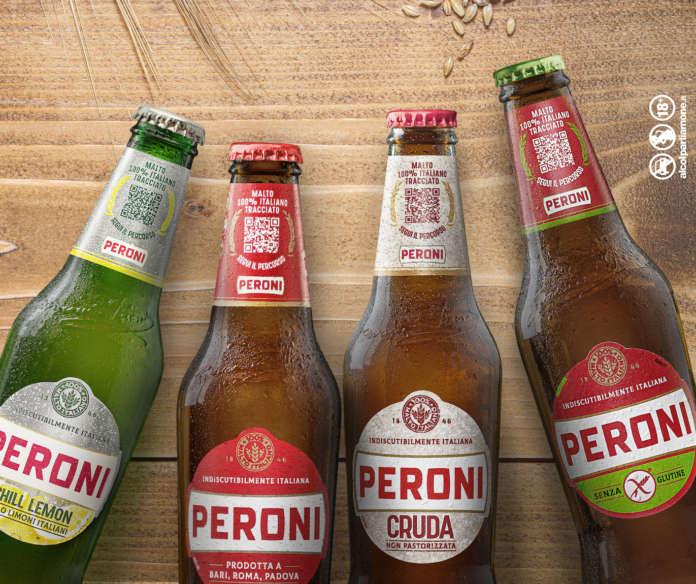 Birra Peroni nuova grafica