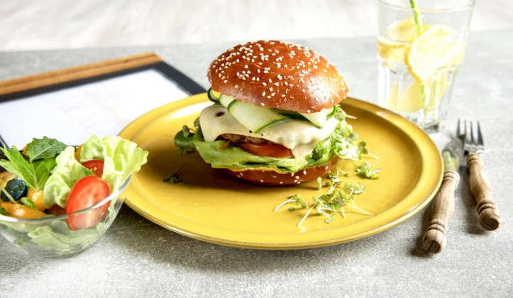 Burger BB-Brioche Breze con sesamo