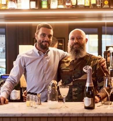Karol e De Luca champagne